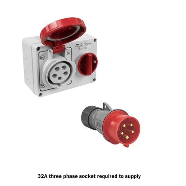 Olympus JetHeat OLY-J15/3 Industrial Electric Fan Heater with Thermostat 15kW/50000Btu 415V~50Hz